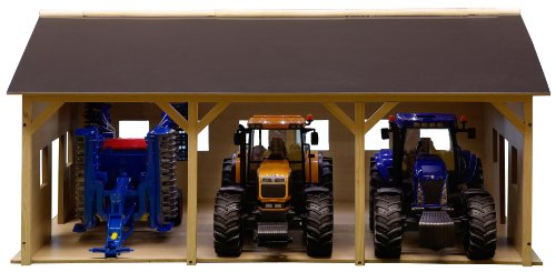 (Kids Globe Wooden Farm Shed for 3 Tractors (Scale 1:16))
