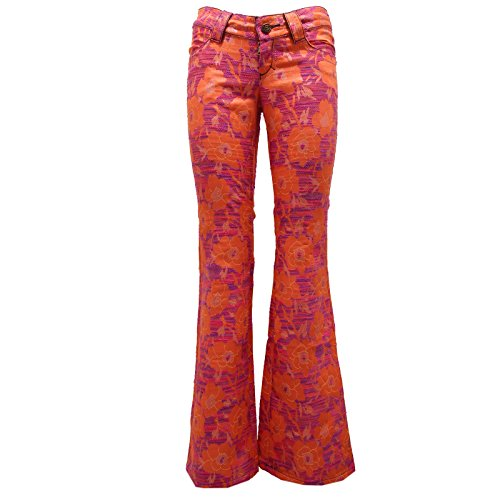 8412U pantalone donna CUSTO BARCELONA orange pant trouser woman Arancione