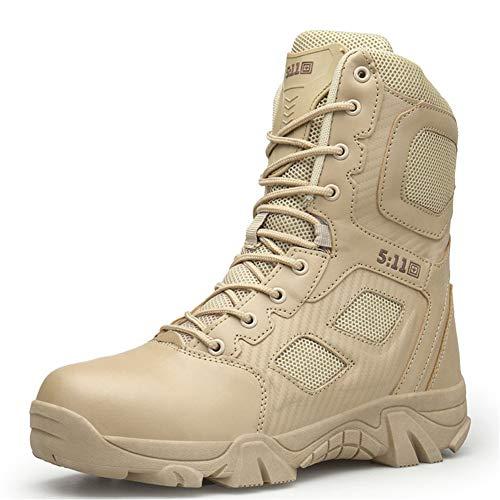 Terrain FHTD Up Stivali Militari Lace Scarpe Scarpe Resistenti Combat Da Da Work Da Trekking Scarpe 2 Tattiche Colori Uomo Beige Trekking All All'usura na7nqxg5T