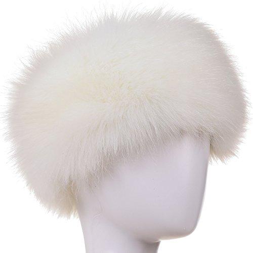 Dikoaina Womens Faux Fur Headband Winter Earwarmer Earmuff Hat Ski -