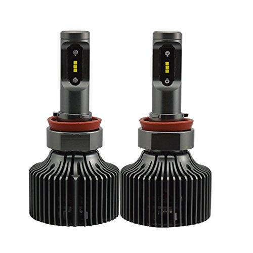 [H8 H11 All-in-One LED Headlight Conversion Kit 8400LM(each bulb 4200 lumens) 60W(each bulb 30W) - Cool White 6000K 6K - Low Beam/High Beam/ Driving Fog Light Bulbs 2 Year Warranty (H8/H11)] (P7 Led)
