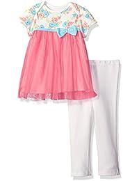 Baby Girls' 2 Piece Lap Shoulder Tulle Dress and Legging Set