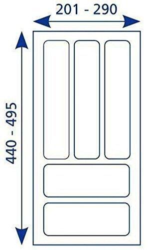 Besteckeinsatz Universal 30 Besteckkasten Schubladeneinsatz weiß für 30-er Schublade *517138