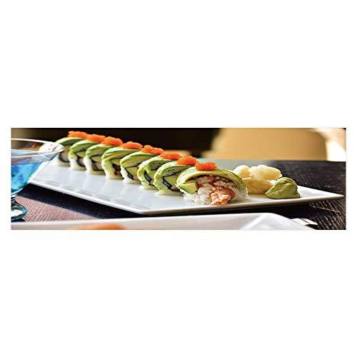 (Fish Tank Background Dragon roll Sushi roll American Style Shrimp Tempura Cucumber PVC Adhesive Decor Paper Sticker L23.6 x H19.6)