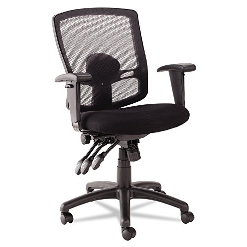 Alera Etros Series Petite Mid-Back Multifunction Mesh Chair, Black (We Dropship For You)