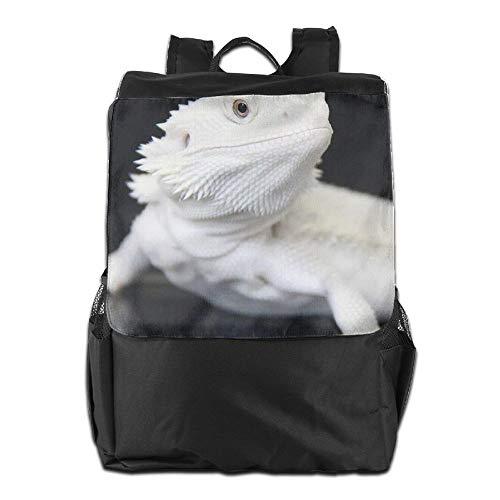 School Backpacks Cool Bearded Dragon Lizards Animal White.JPEG Bookbag Polyester Multifunction - Lizards Jordan