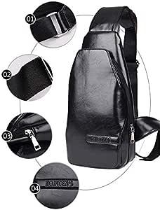 Men Messenger Bags Casual Sport Bag Leather Chest Packs Single Shoulder Bag Men Outdoor Travel Bags