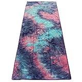 STROPS Yoga Mat Towel, Tie Dye Towel for Bikram/Hot Yoga, Yoga and Pilates, Paddle Board Yoga, Sports, Exercise, Fitness Towel, also Use as Beach Towel, Concert Towel, Multi-Purpose Use Yoga Towel