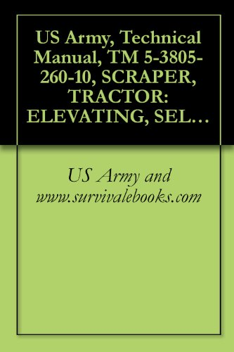 US Army, Technical Manual, TM 5-3805-260-10, SCRAPER, TRACTOR: ELEVATING, SELF-PROPELL 11 CUBIC YARD, SECTIONALIZED AND NONSECTIONALIZED MODEL 613BSS (NSN ... MODEL 613BSNS1 (3805-01-267-4178)