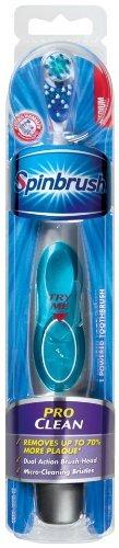 Sprinbrush Pro Clean Battery Powered Toothbrush, Medium (Pack of 2)