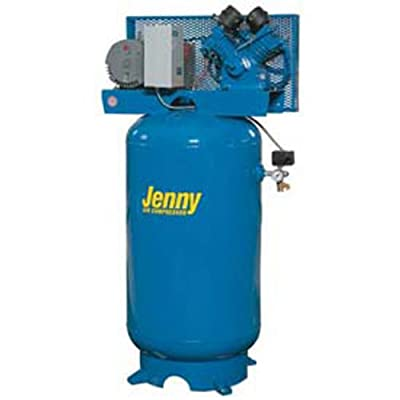 Jenny G5A-60V Single Stage Vertical Corded Electric Powered Stationary Tank Mounted Air Compressor with G Pump, 60 Gallon Tank, 3 Phase, 5 HP, 230V