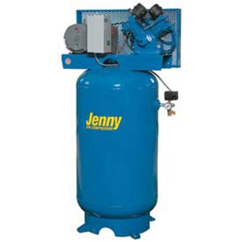 Jenny G5A-60V Single Stage Vertical Corded Electric Powered Stationary Tank Mounted Air Compressor with G Pump, 60 Gallon Tank, 1 Phase, 5 HP, 230V