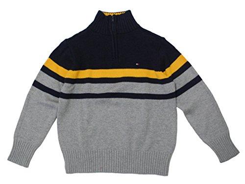Tommy Hilfiger Boys Wayne Half Zip Striped Sweater (Half Zip Striped Sweater)