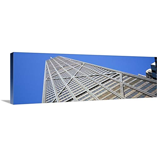 GREATBIGCANVAS Gallery-Wrapped Canvas Entitled Low Angle View of a Building, John Hancock Building, Chicago, Illinois by 36