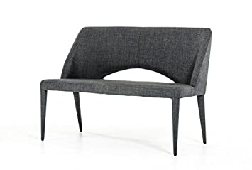 Amazing Limari Home The Maree Collection Mid Century Modern Fabric Upholstered Metal Dining Accent Bench Seat With Back Gray Beatyapartments Chair Design Images Beatyapartmentscom