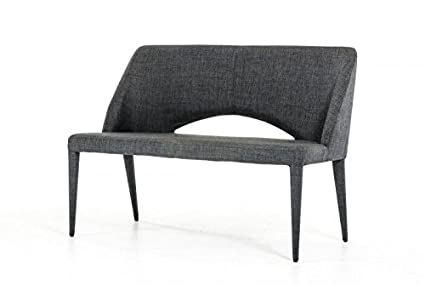 Incredible Limari Home The Maree Collection Mid Century Modern Fabric Upholstered Metal Dining Accent Bench Seat With Back Gray Uwap Interior Chair Design Uwaporg