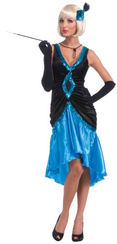 Flapper Costume Size One Size (Forum Roaring 20S Betty Blue Flapper Costume, Blue, One Size)