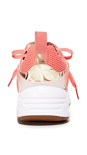 more photos 4d578 28404 ... Puma Femmes Bog Caro Graphique Sneakers En Porcelaine Rose   Puma Blanc