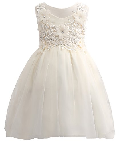 PLwedding Girl Clothes Lovely Evening Dresses Cute Pageant Dresses (Size 4-5, Ivory)]()