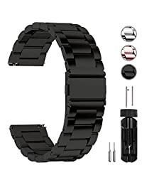 Fullmosa Quick Release Watch Strap, Stainless Steel Watch Band 16mm, 18mm, 20mm, 22mm Or 24mm