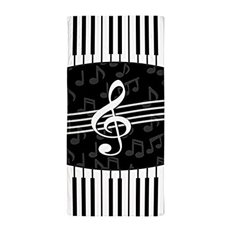 6a7ab7cb7649 Buy CafePress - Stylish Designer Piano And Music Notes - Large Beach ...