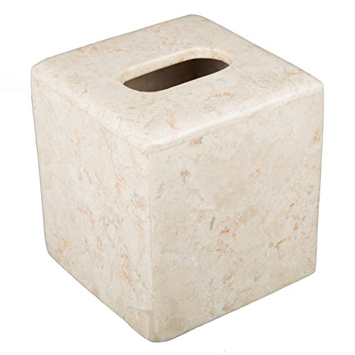 Creative Home Champagne Marble Tissue Box Holder by Creative Home