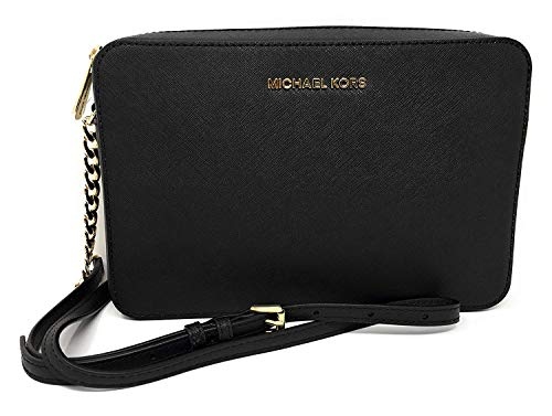 Michael Kors Jet Set Large East West Crossbody Black Saffiano 5566c330ceb