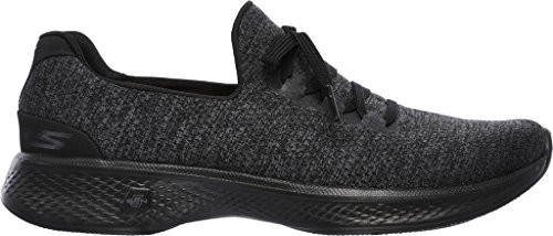 c Go Basses 4 Heather Gray d Walk A Black Baskets Skechers Femme Gris pT4SqwHH