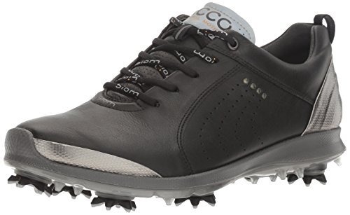 ECCO Women's Boim G 2 Free Golf Shoe, Black/Buffed Silver, 41 EU/10-10.5 M US