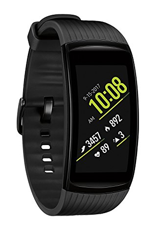 Samsung Gear Fit2 Pro Smart Fitness Watch (Large), Liquid Black - SM-R365NZKAXAR (Renewed) (Gear Fit Watch)