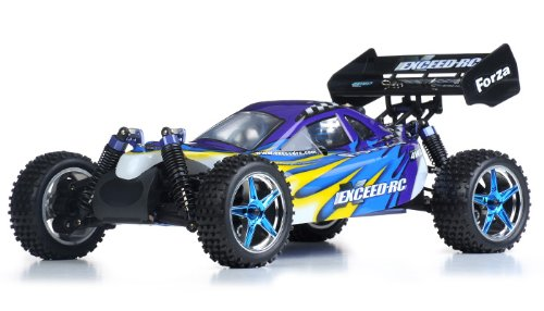 (Exceed RC 1/10 2.4Ghz Forza .18 Engine RTR Nitro Powered Off Road Buggy (Fire Blue))