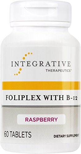 Chewable Raspberry Flavor (Integrative Therapeutics - Foliplex with B-12 - High Potency & Fast Absorbing - Raspberry Flavor - 60 Chewable Tablets)