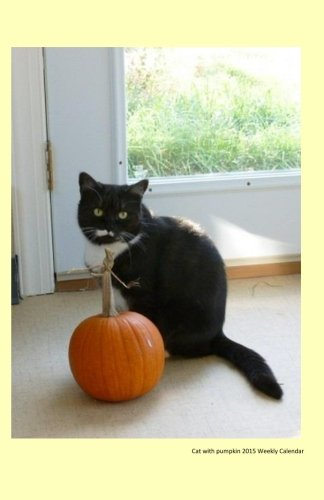 Cat with pumpkin 2015 Weekly Calendar: 2015 weekly engagement calendar with a cover photo of a black cat and pumpkin from Ralphie's Retreat - A ... feline leukemia. (Cats of Ralphie's Retreat) Black Cat Pumpkins
