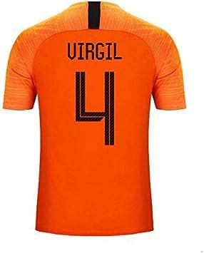 S&K Camiseta Virgil Van Dijk Selección de Fútbol de Holanda Naranja 2020 para Hombre & Niño (Naranja, 24): Amazon.es: Deportes y aire libre