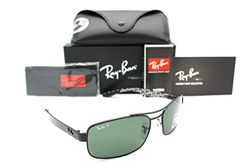c0378269ca9 Ray-ban Sunglasses RB 8316 002 N5 62mm Black Carbon Fibre Crystal Green  Polarized