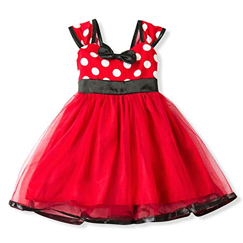 Gorgeous Baby Events Party Wear Christening Gowns Children's Princess Dresses for Girls Toddler Evening Dress(Red -