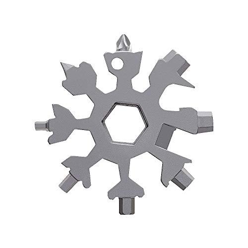 (Amenitee 18-in-1 Snow Multi-Tool - Easy N Genius - FEX 18-in-1 Stainless Steel Snowflakes Multi-Tool (Standard, Stainless Steel))