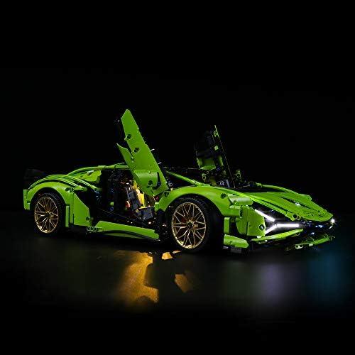 LIGHTAILING Licht-Set Für (Technic Lamborghini Sián FKP 37) Modell - LED Licht-Set Kompatibel Mit Lego 42115(Modell Nicht Enthalten)