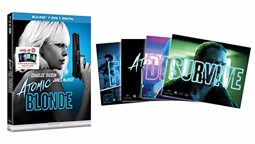 ATOMIC BLONDE Blu-ray+DVD+Digital Wtih Exclusive Collectible Packaging and Art Cards Included