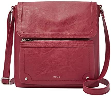 Relic through Fossil Women's Evie Flap Crossbody Handbag Purse