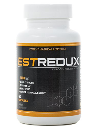 Estrogen Blocker (VH Nutrition Estredux Estrogen Blocker for Men | Aromatase Inhibitor and Anti Estrogen - 30 Day Supply - 60 Capsules)