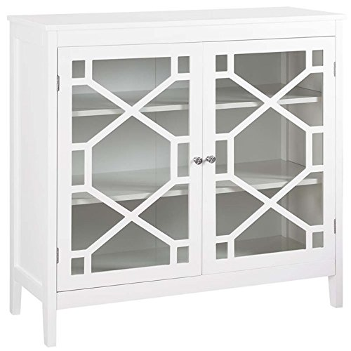 Riverbay Furniture 38'' Curio Cabinet in White by Riverbay Furniture