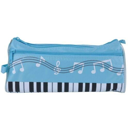 - Piano Keyboard Pen Bag Multi-function Student Stationery Box NT (Color - Sky Blue)