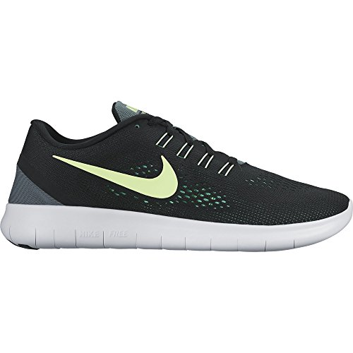 Nike Men's Free RN Running Shoe Black/Ghost Green/Hasta/Green Glow Size 15 M (Mens Ghost)