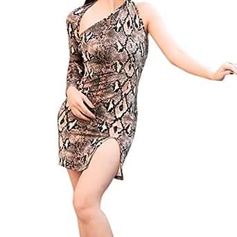 STRIR Mujer Serpiente Vestido de Fiesta Cortos Estampado ...