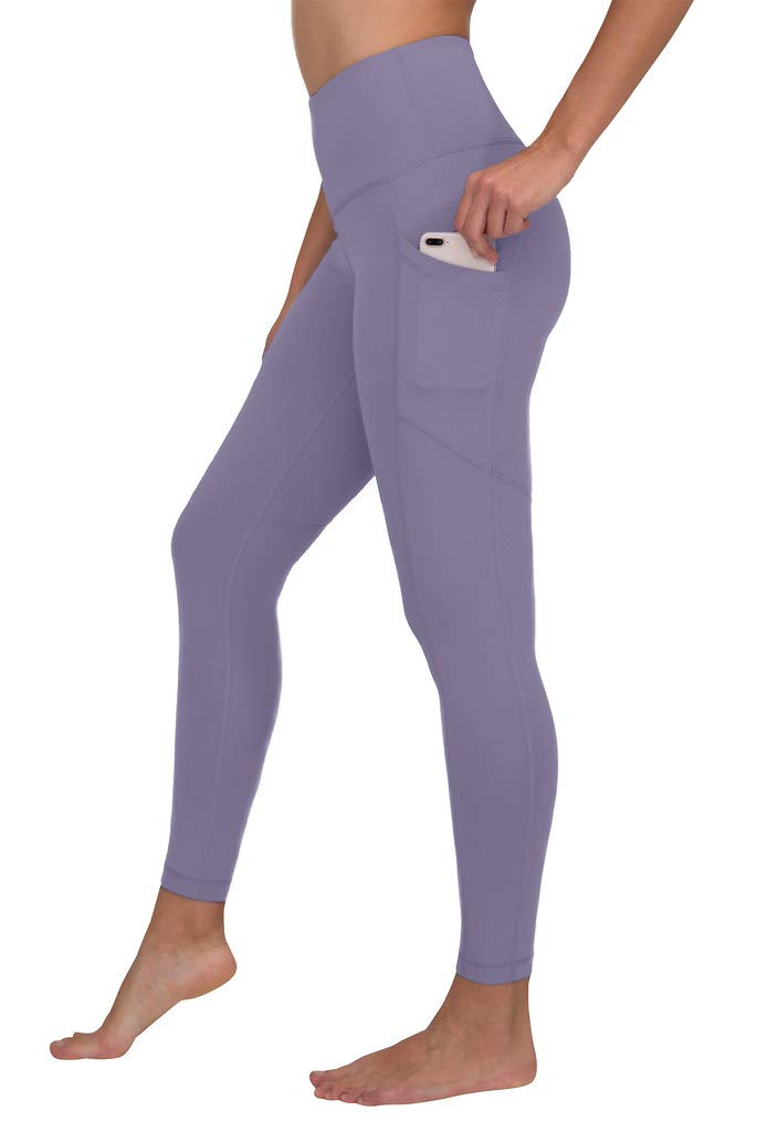 90 Degree By Reflex High Waist Interlink Yoga Pants - Alpine Iris - XS