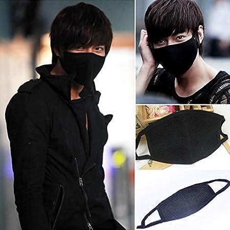 Gesichtsmaske aus Baumwolle, Anti-Staub-Mundschutz, warme Maske fü r Mann und Frau, schwarz MOOUK