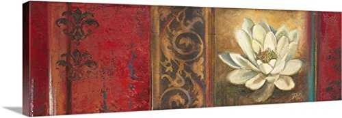 Patricia Pinto Premium Thick-Wrap Canvas Wall Art Print entitled Red Eclecticism with Water Lily 60