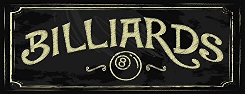 Review Billiards Metal Sign, Eight