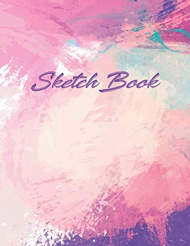 Sketch Book: Watercolor effect Cover | Drawing book Sketchbook Journal & Notebook | 150 pages 8.5x11 inches| for drawing, painting, sketching and doodling